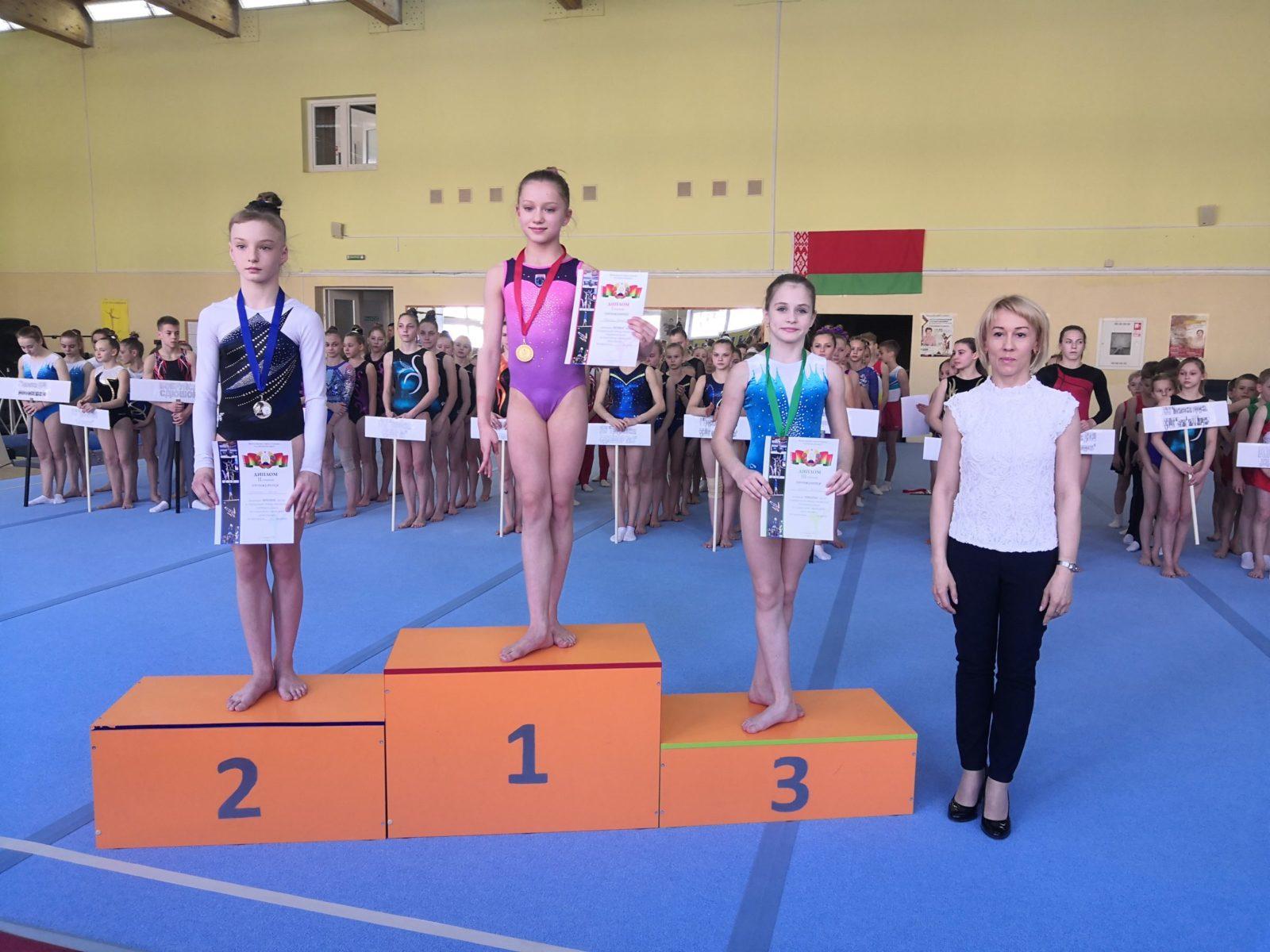 Валерия Бигель (III место) в личном многоборье по первому разряду стала бронзовой медалисткой. Фото: архив СДЮШОР профсоюзов