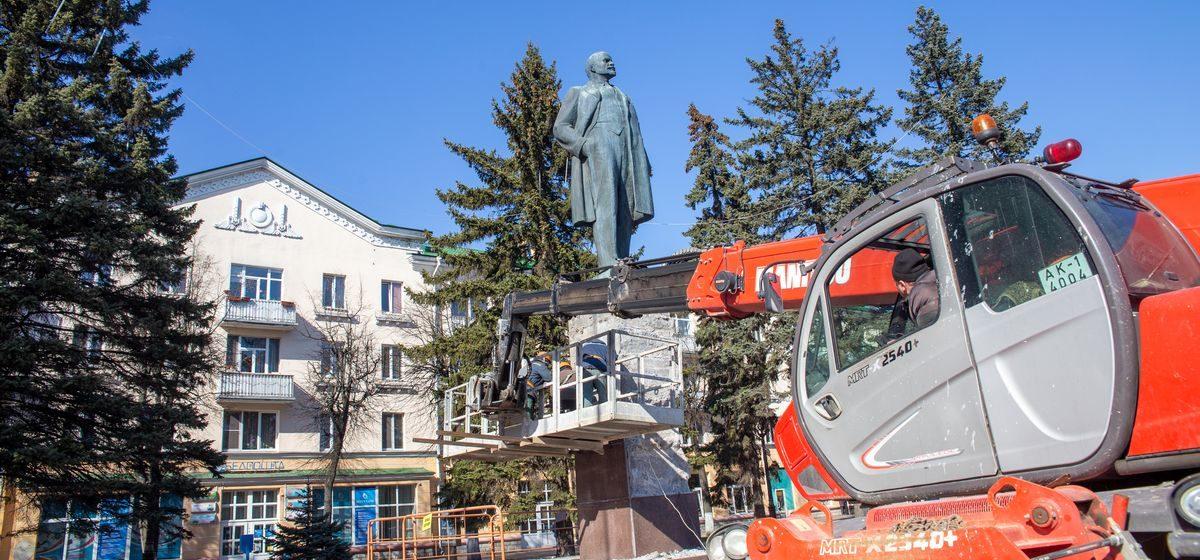 Что делают с памятником Ленину в Барановичах