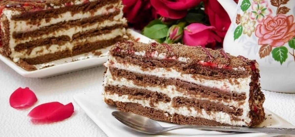 Вкусно и просто. Торт без выпечки из печенья с творогом