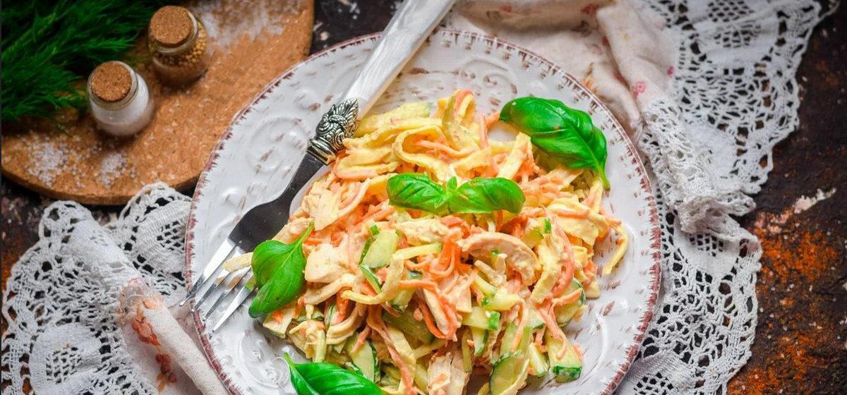 Вкусно и просто. Салат с блинчиками и курицей