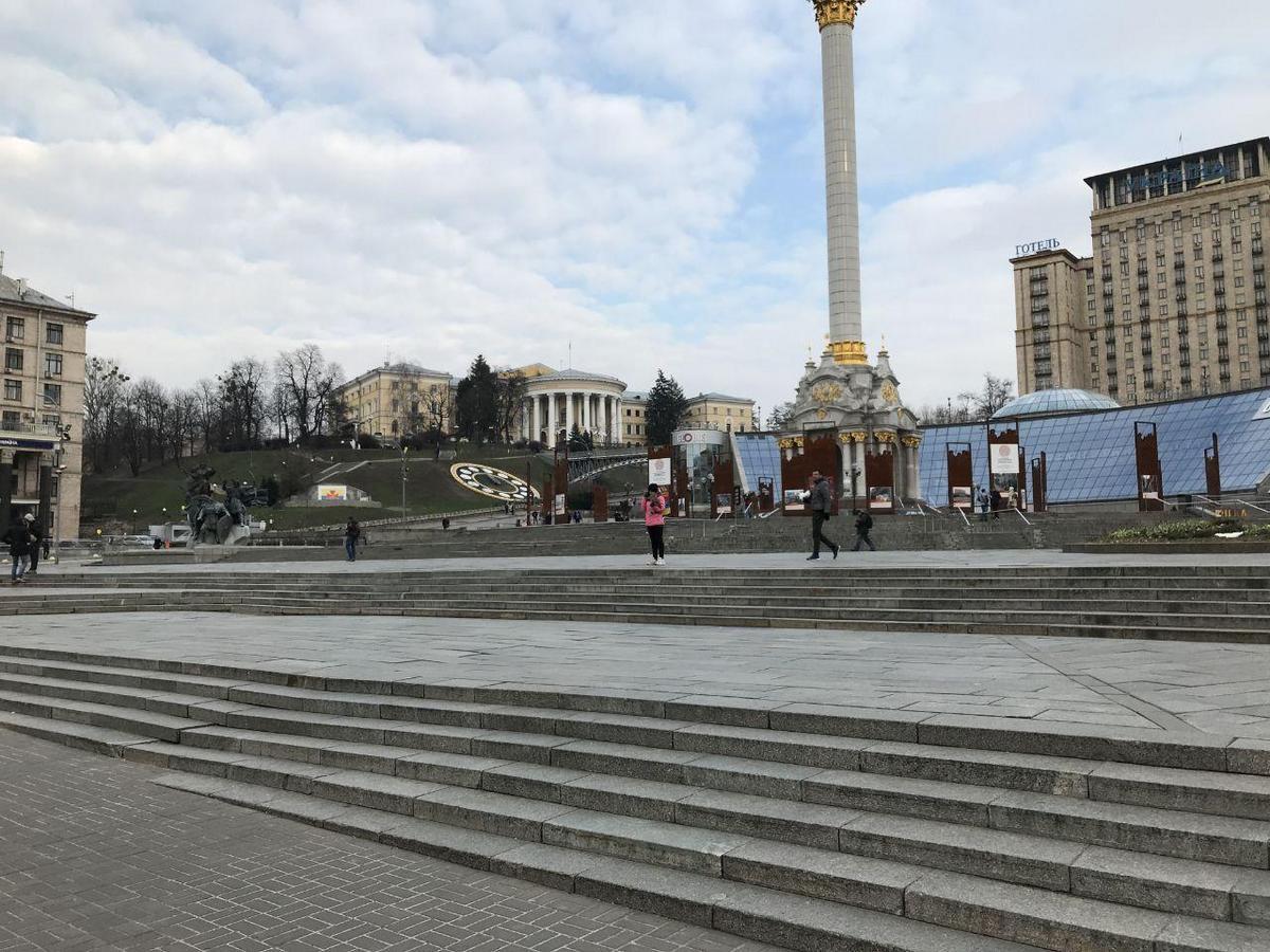 Майдан в Киеве во время карантина. Фото: Алена Серикова