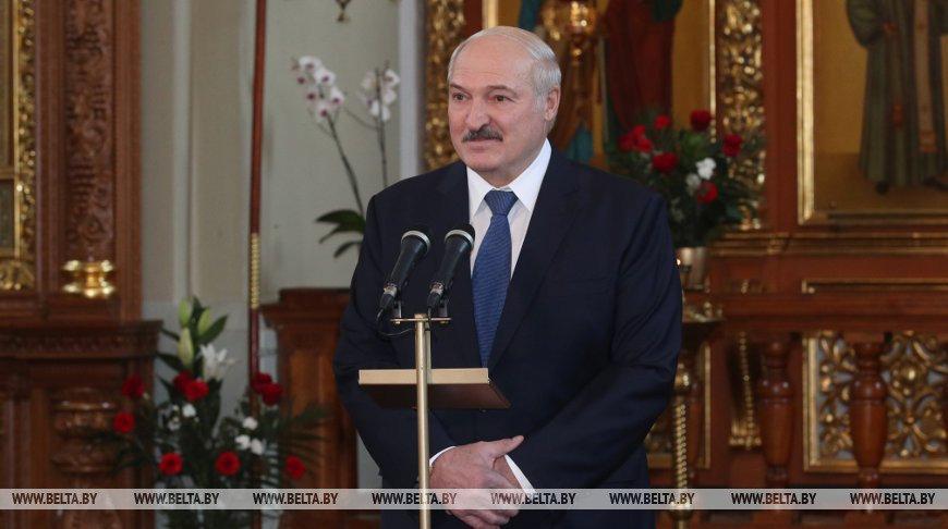 Лукашенко о Боге: Думаю, Он нам по делу стукнул по голове