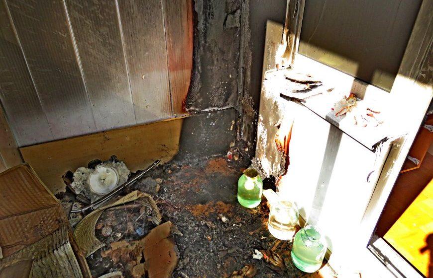 Из-за банки с березовым соком в брестской многоэтажке сгорел балкон