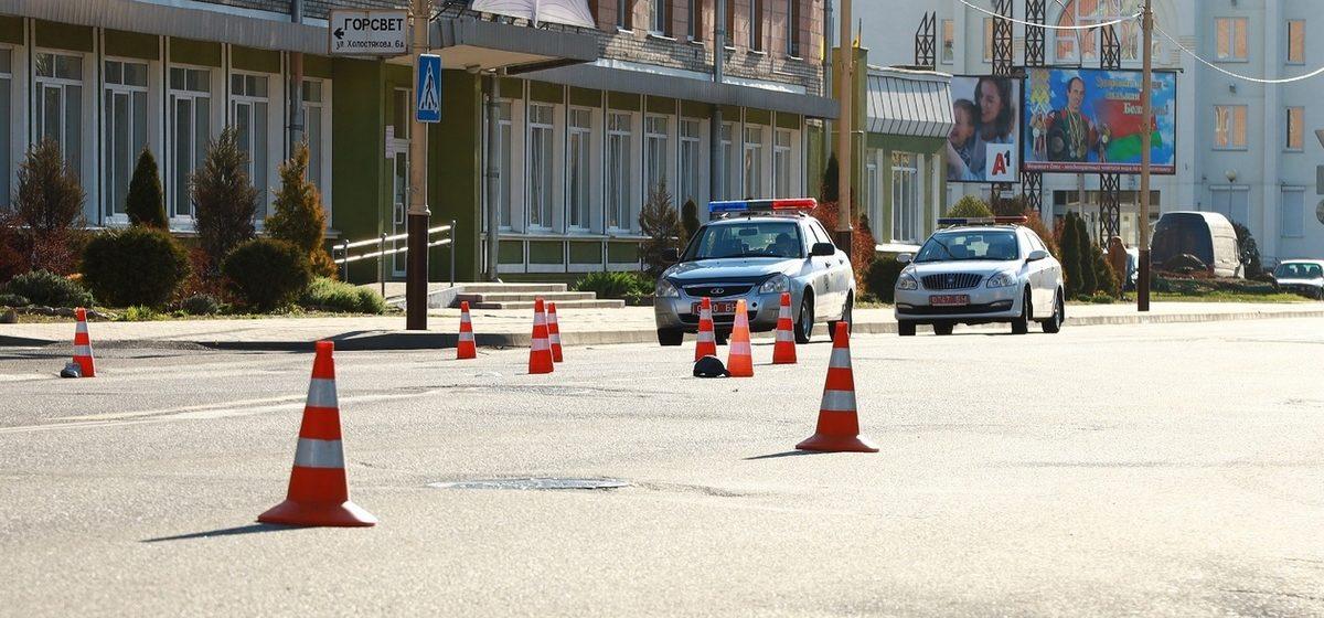 В Барановичах на пешеходном переходе сбили человека. Водитель с места ДТП скрылся