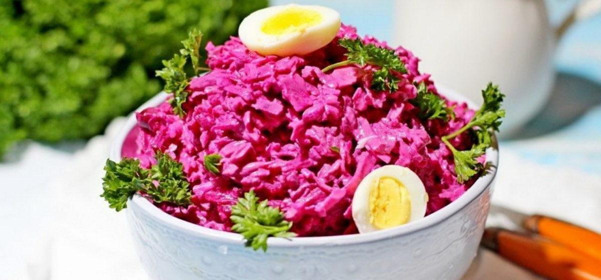Вкусно и просто. Свекольный салат с сыром и яйцом