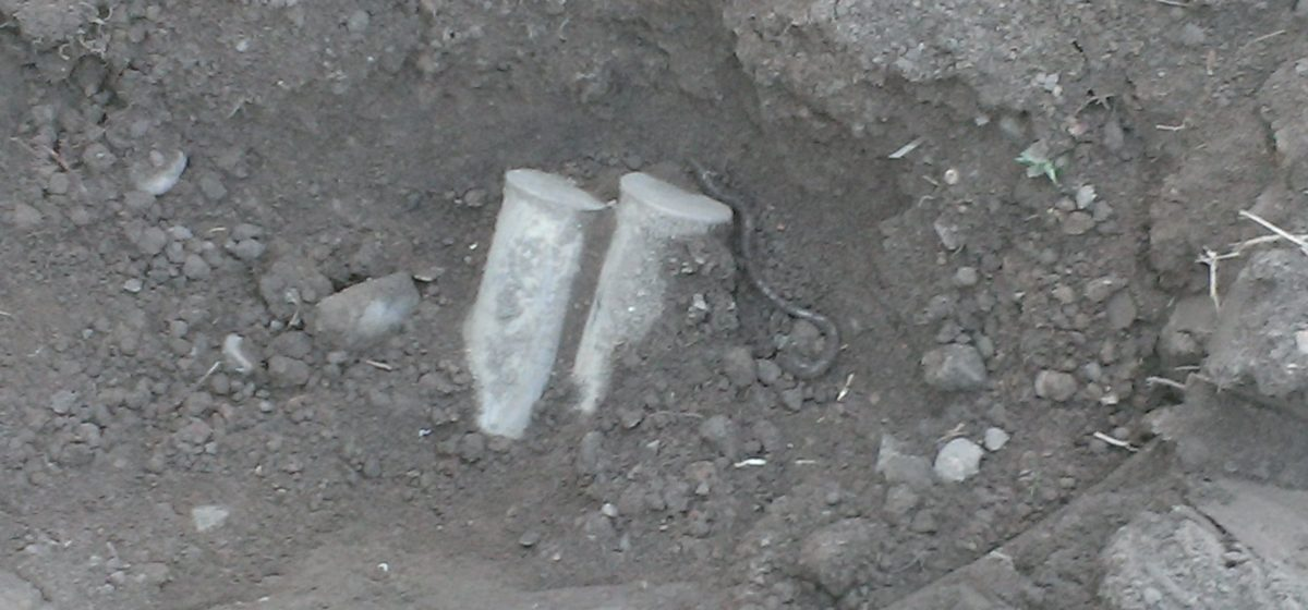Житель Барановичей хотел посадить крыжовник, а откопал семь снарядов
