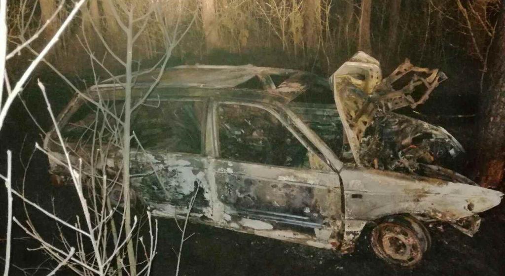 Легковушка съехала в кювет, врезалась в дерево и загорелась в Ветковском районе – погибли два человека