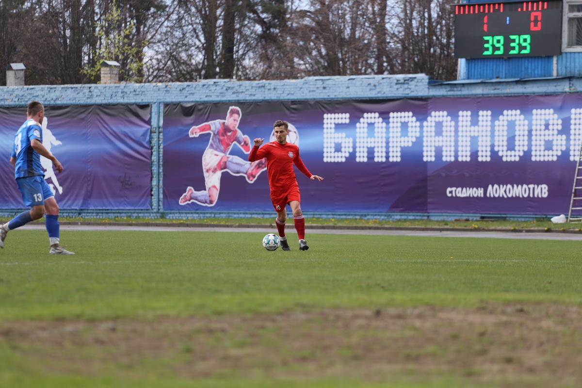 Автор голевого дубля Дмитрий Хлебосолов. Фото: Андрей БОЛКО