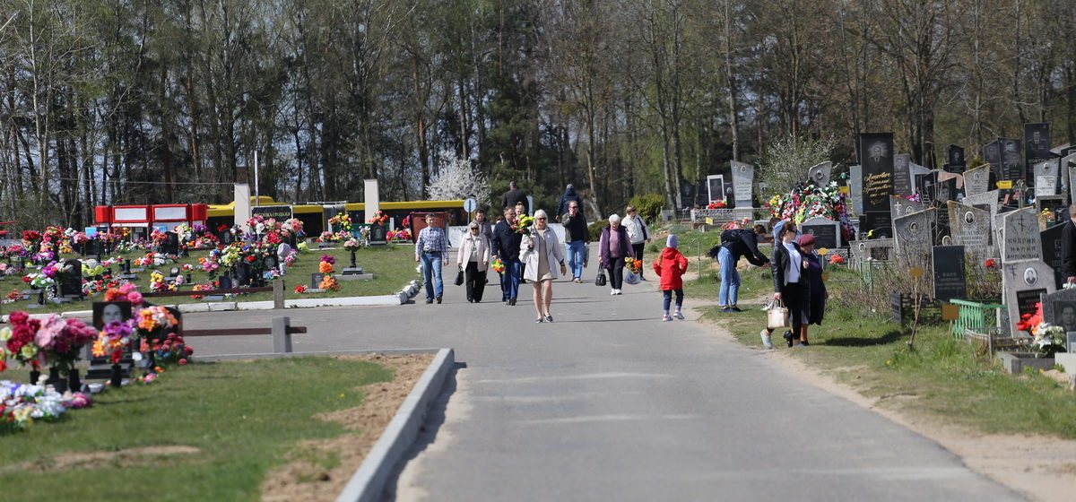 Радоница в Барановичах во время коронавируса. Фоторепортаж