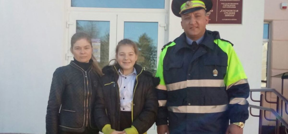 Сотрудник ГАИ спас 11-летнюю девочку от удушья в Слуцком районе. Смотрите, как это было