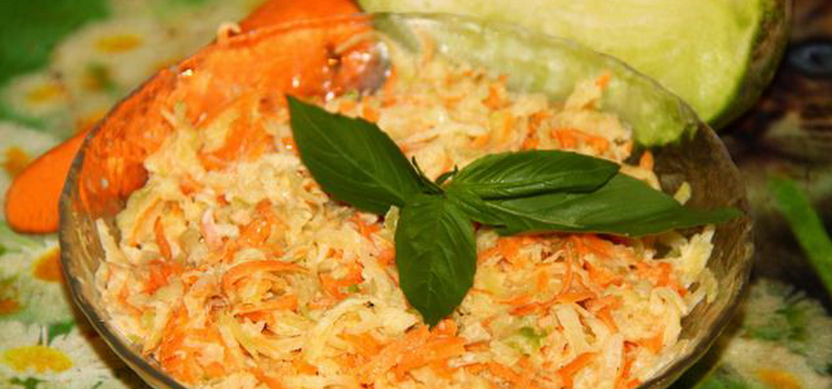 Вкусно и просто. Салат из редьки с морковью