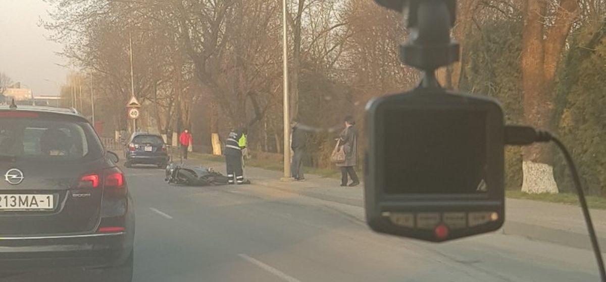 Мотоциклист въехал в «Ауди» в Барановичах