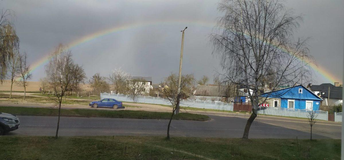 Апрельская радуга в Барановичах. Фотофакт