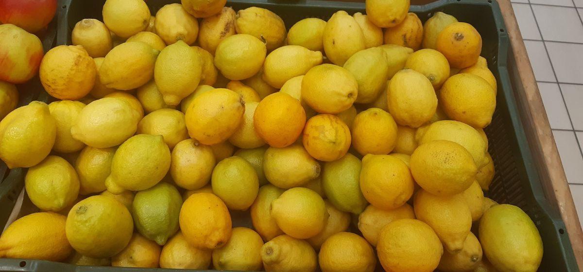 Новые цены на лимоны в барановичском магазине. Фотофакт