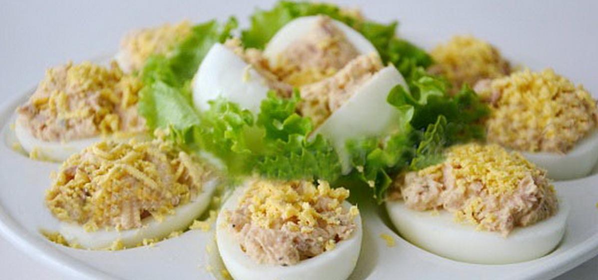 Вкусно и просто. Яйца, фаршированные тунцом