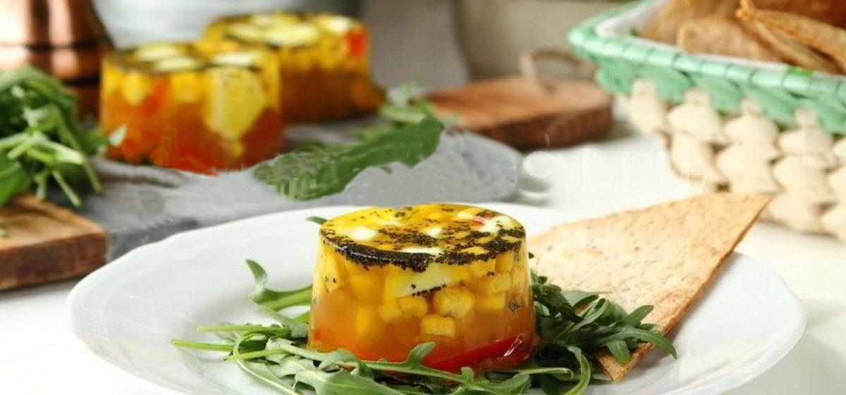 Вкусно и просто. Заливное из овощей с сыром Моцарелла