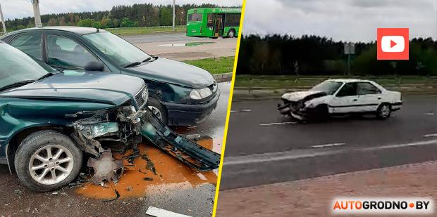 В Гродно мужчина вышел в тапочках из дома, сел в авто и начал крушить другие машины. Видео