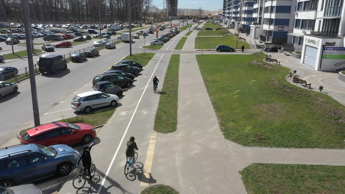 Все кварталы комплекса «Минск Мир» свяжет сеть велодорожек