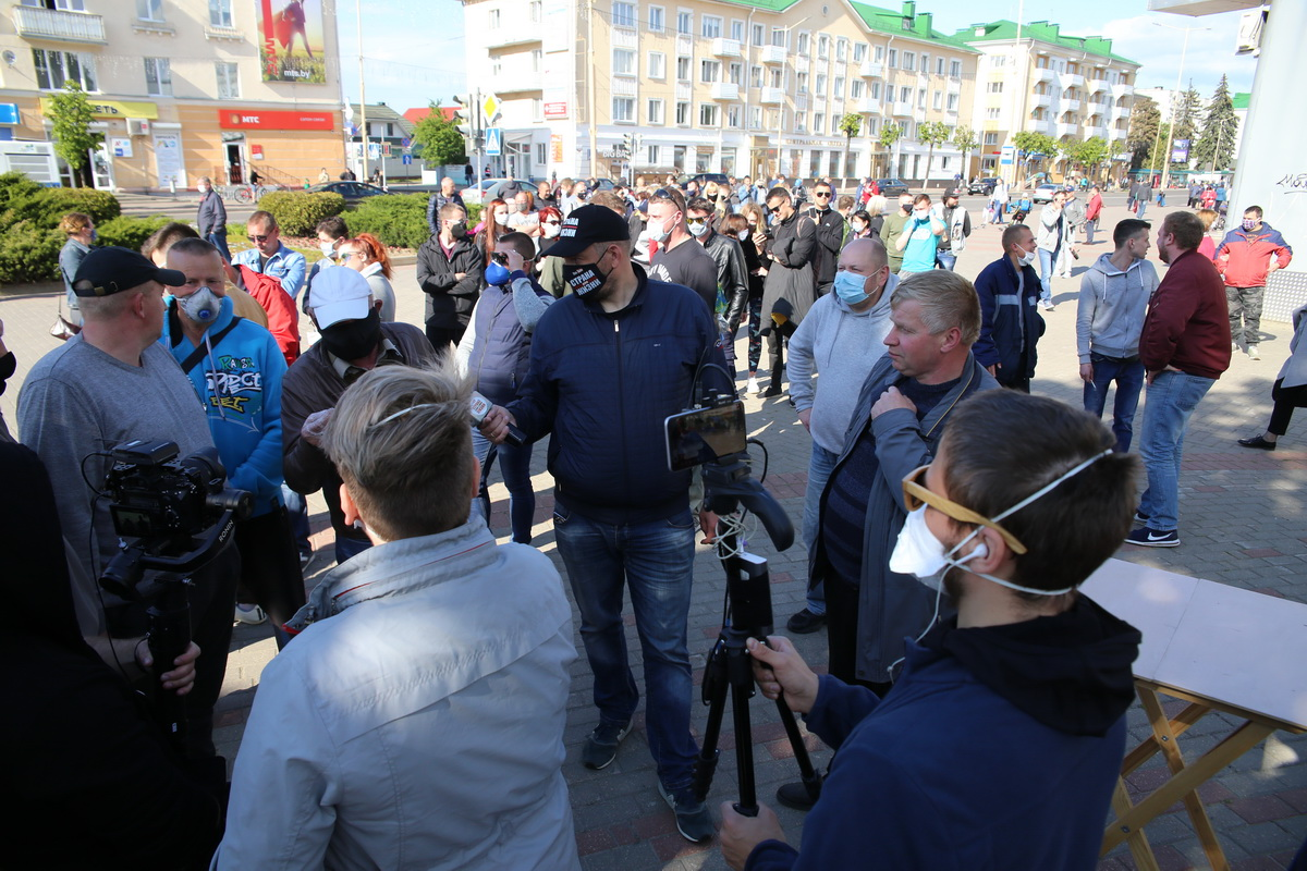 26 мая. Сергей Тихановский в Барановичах. Фото: Андрей БОЛКО