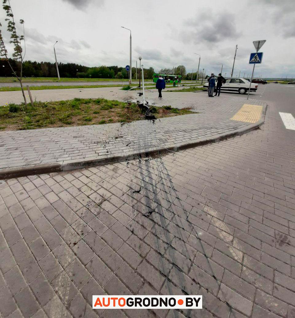 Место инцидента. Фото: autogrodno.by