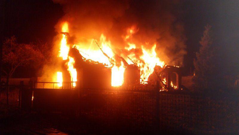 Строительный вагончик горел в Барановичах