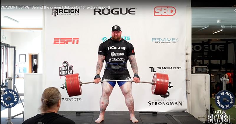 Гора из «Игры престолов» установил мировой рекорд в становой тяге. Он поднял штангу в 501 килограмм