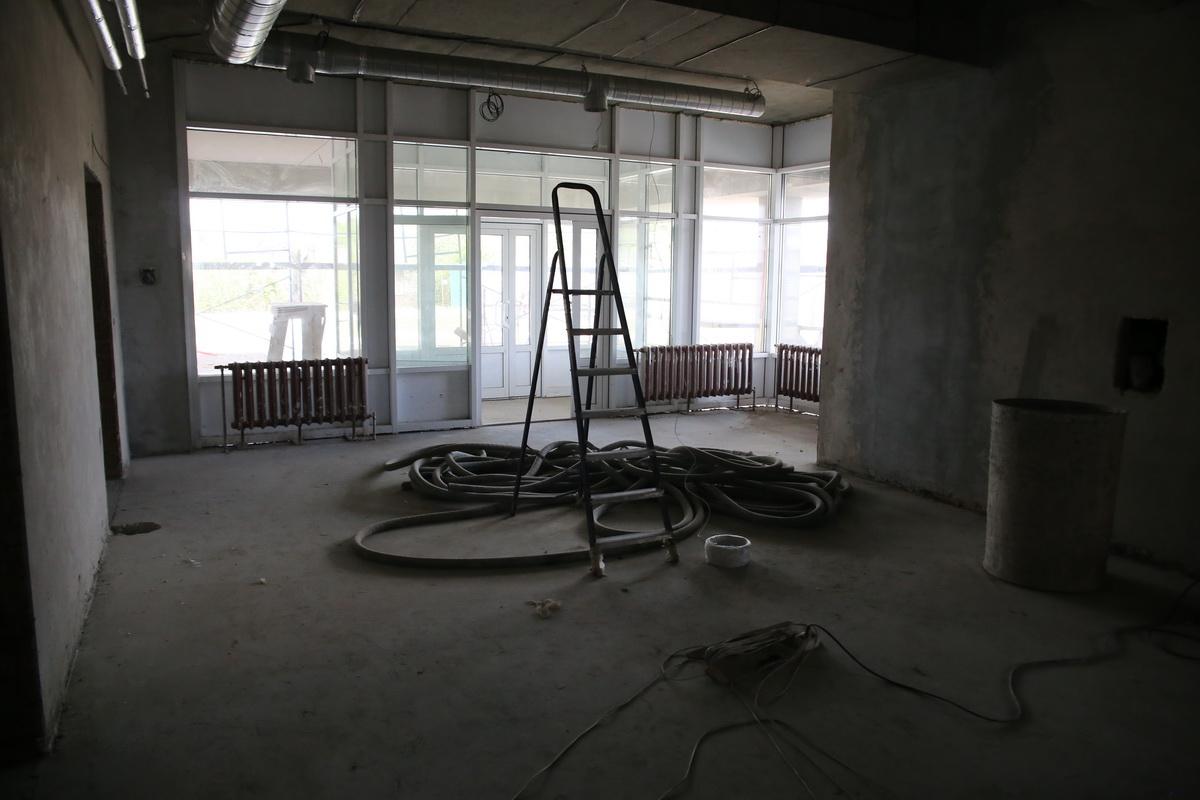 Будущий холл станции скорой помощи. Фото: Андрей БОЛКО