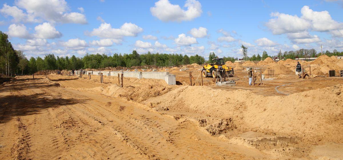 Что строят на улице Слонимское шоссе в Барановичах?