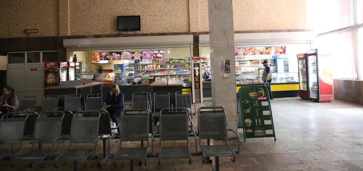 Буфет на автовокзале в Барановичах. Фото: Андрей БОЛКО