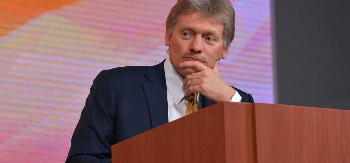 Песков заявил, что Москва не собирается вмешиваться в белорусские выборы