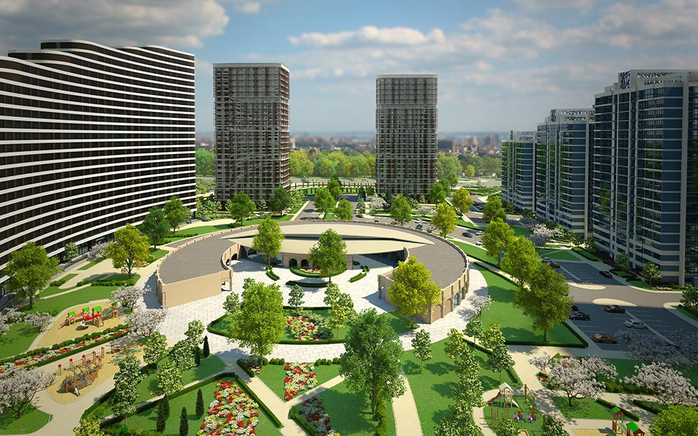 В центральной части комплекса будет заложен большой современный парк.