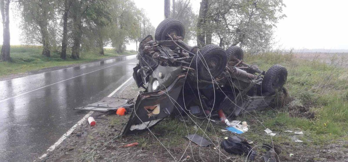 Под Толочином «буханка» влетела в опору ЛЭП – пострадали два человека
