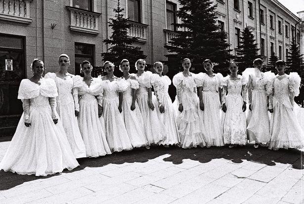Участницы конкурса Мисс Очарование-96. Фото: Кашко М.В. из фондов Барановичского краеведческого музея