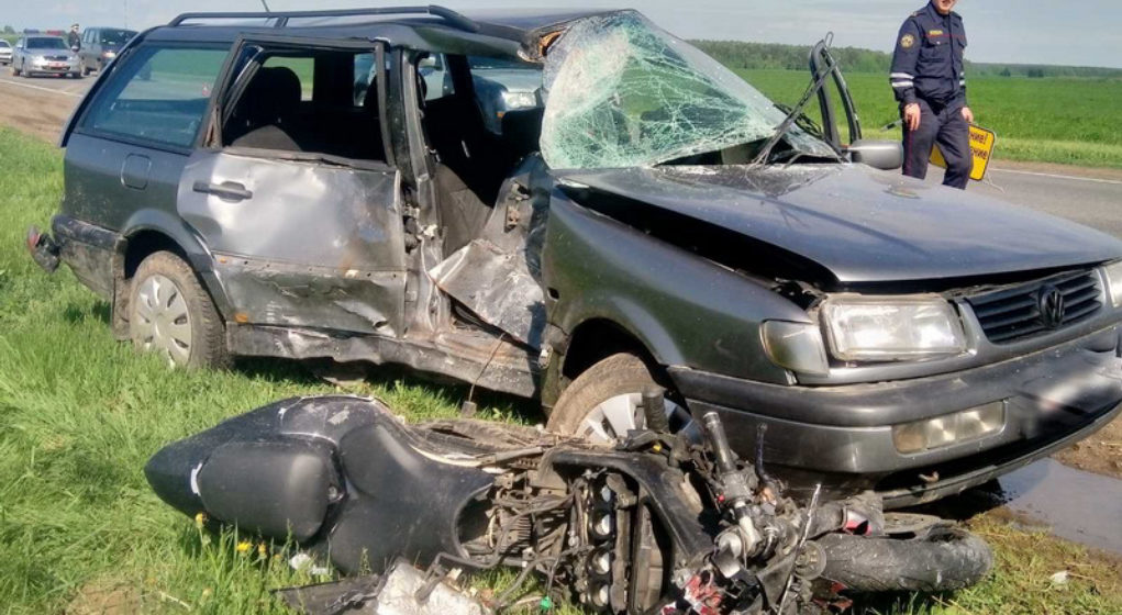 Под Могилевом легковушка не пропустила мотоцикл – байкер погиб