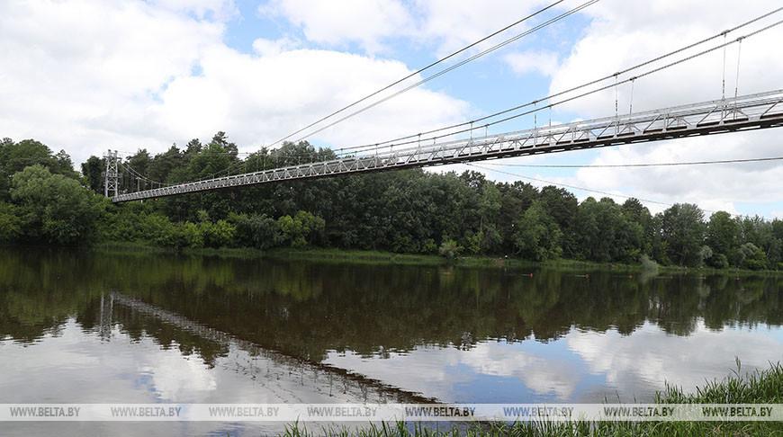 Как выглядит самый длинный в Беларуси подвесной пешеходный мост