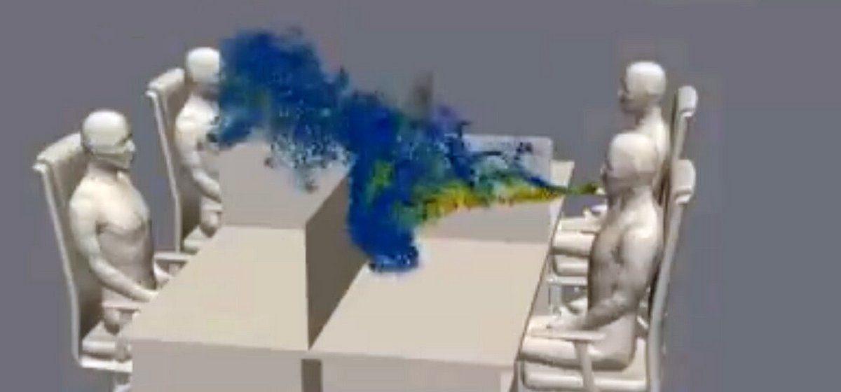 Как вирус после кашля распространяется в офисе, показали ученые. Видео собрало более миллиона просмотров за пару дней