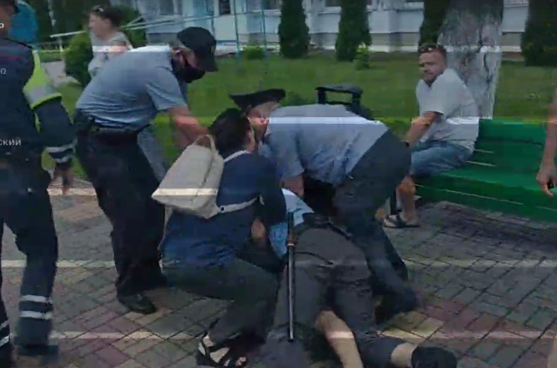 Задержание в Ганцевичах. Скрин видео
