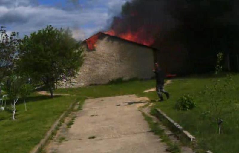 Что горело в Барановичском районе? Видео