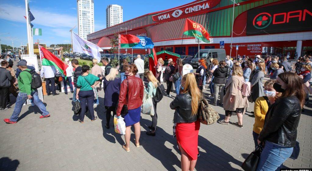 Пикет за Лукашенко в Минске. Онлайн-трансляция