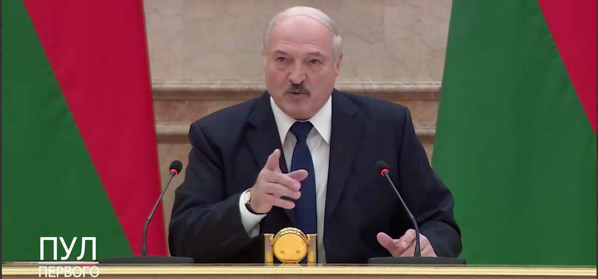 Александр Лукашенко. Кадр из видео
