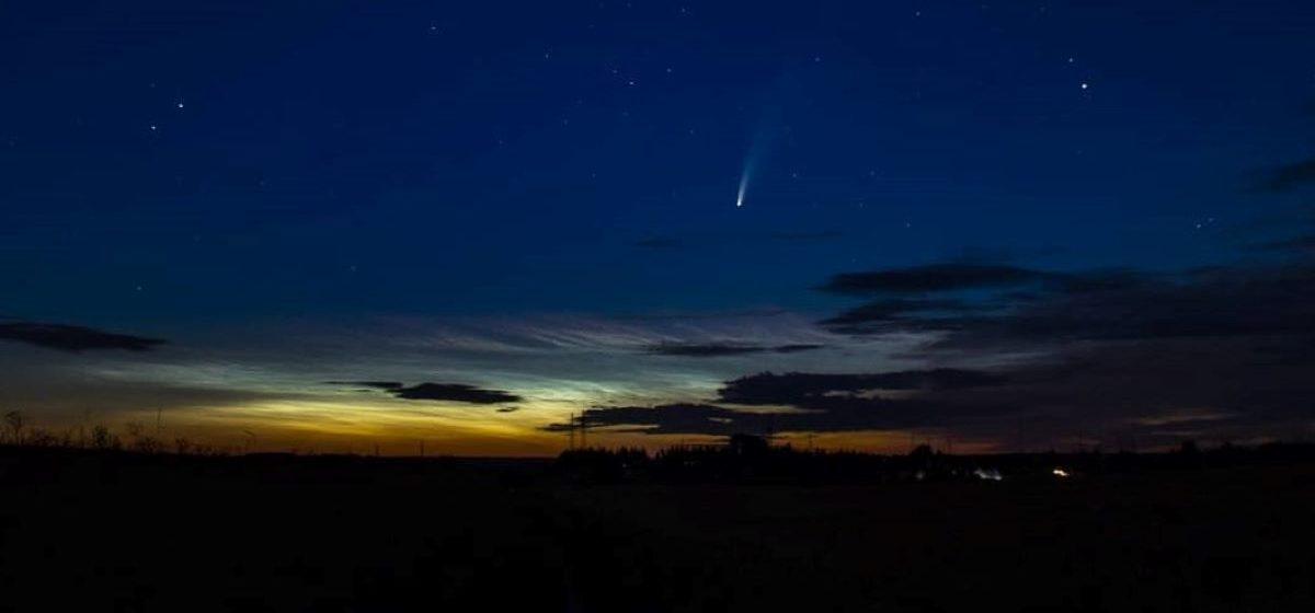 Комету, которая прилетает к Земле раз в несколько тысяч лет, можно увидеть над Барановичами. Фотофакт