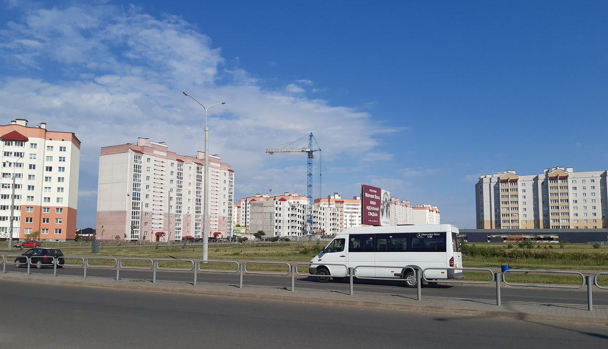 Строительство девятиэтажки на улице Домейко. Фото: Елена ЗЕЛЕНКО