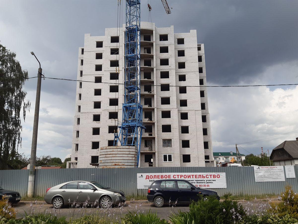 Строительство 10-этажки на улице Мицкевича. Фото: Елена ЗЕЛЕНКО
