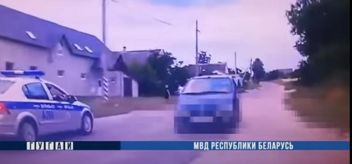 В Волковыске со стрельбой задерживали пьяного водителя. Видео
