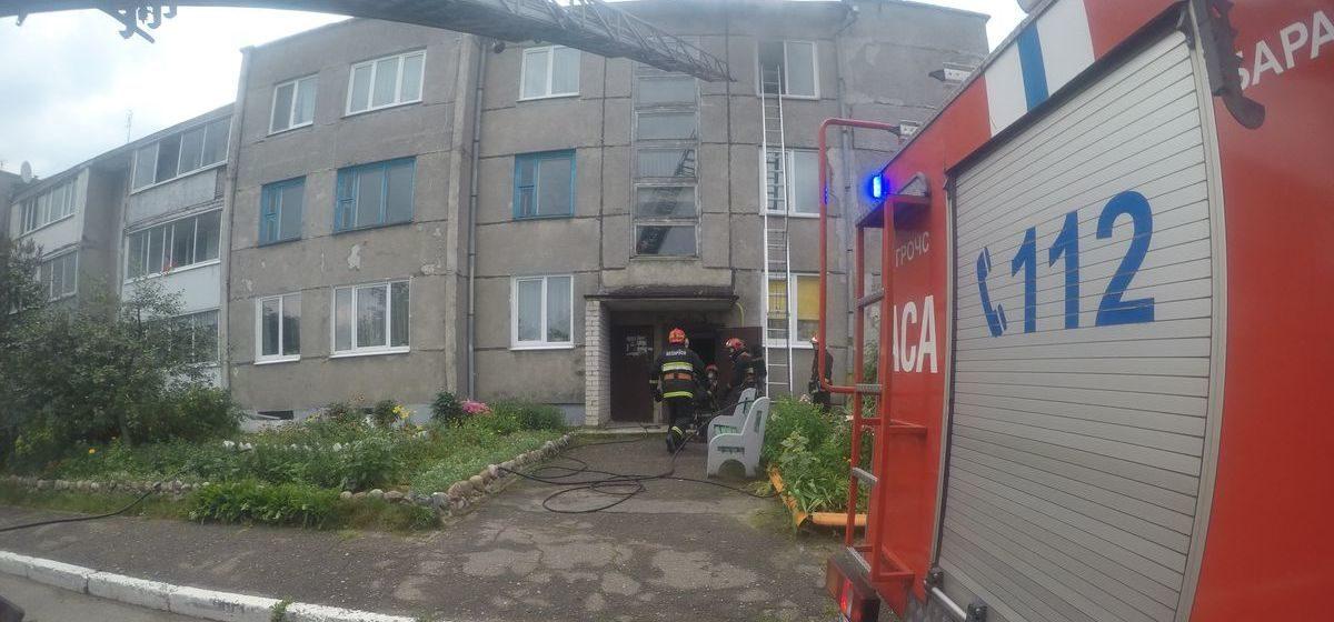 В многоквартирном доме в Барановичах произошел пожар