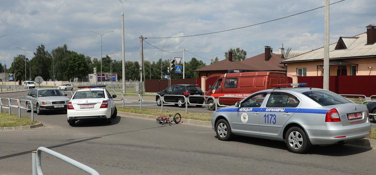 Мальчика-велосипедиста сбила машина на пешеходном переходе в Барановичах