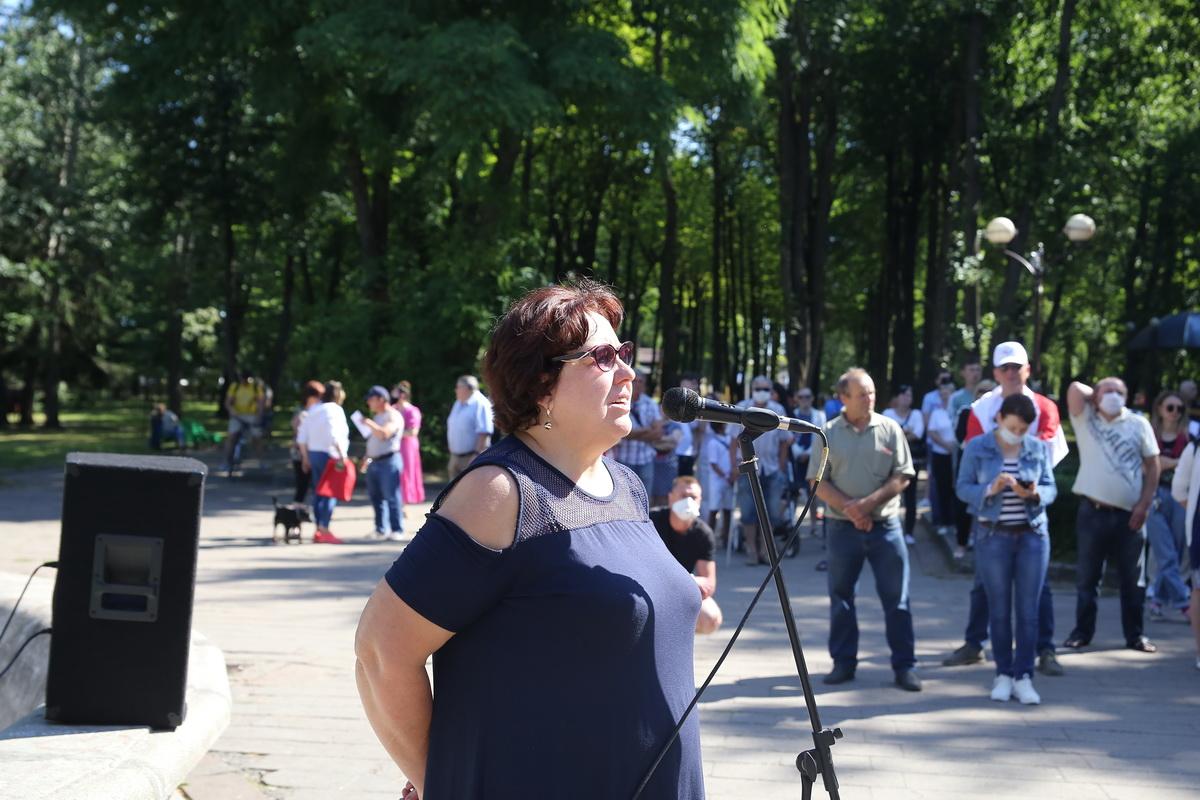 Тамара Потоцкая, начальник координационного штаба Тихановской в Барановичах. Фото: Андрей БОЛКО
