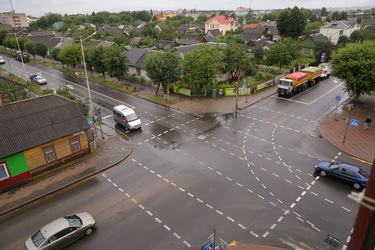 Перекресток улиц Советской и Баранова. Фото: Александр КОРОБ