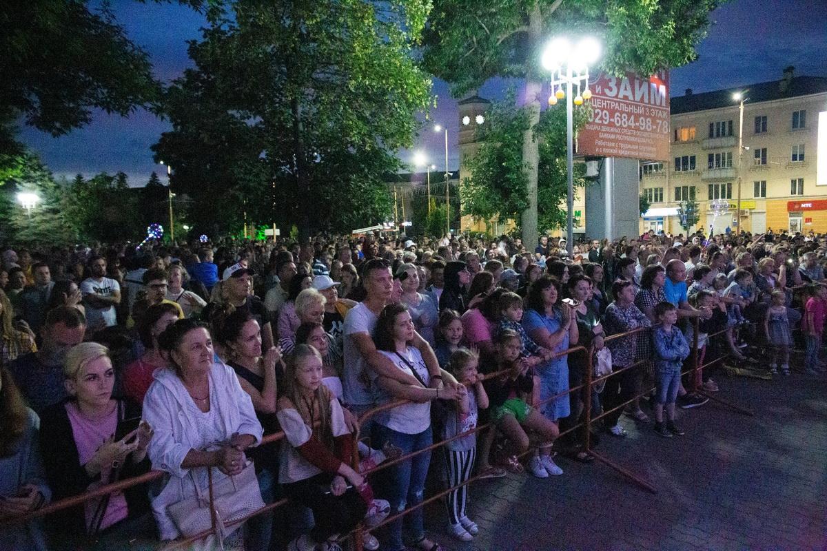 3 июля 2020 года. Праздничное мероприятие в День Независимости в Барановичах. Фото: Андрей БОЛКО