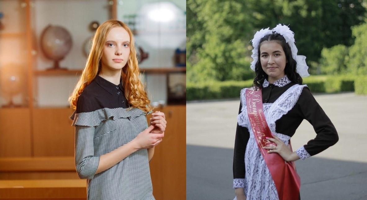 Елена Парфимович (слева) – выпускница средней школы №14 и Дарья Хоменко – выпускница средней школы №10. Фото: личный архив девушек